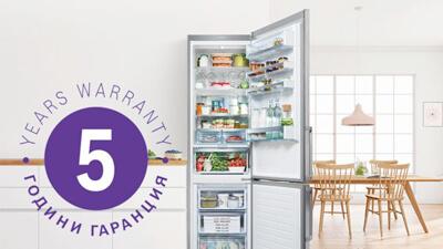5 YEAR garantie fridges